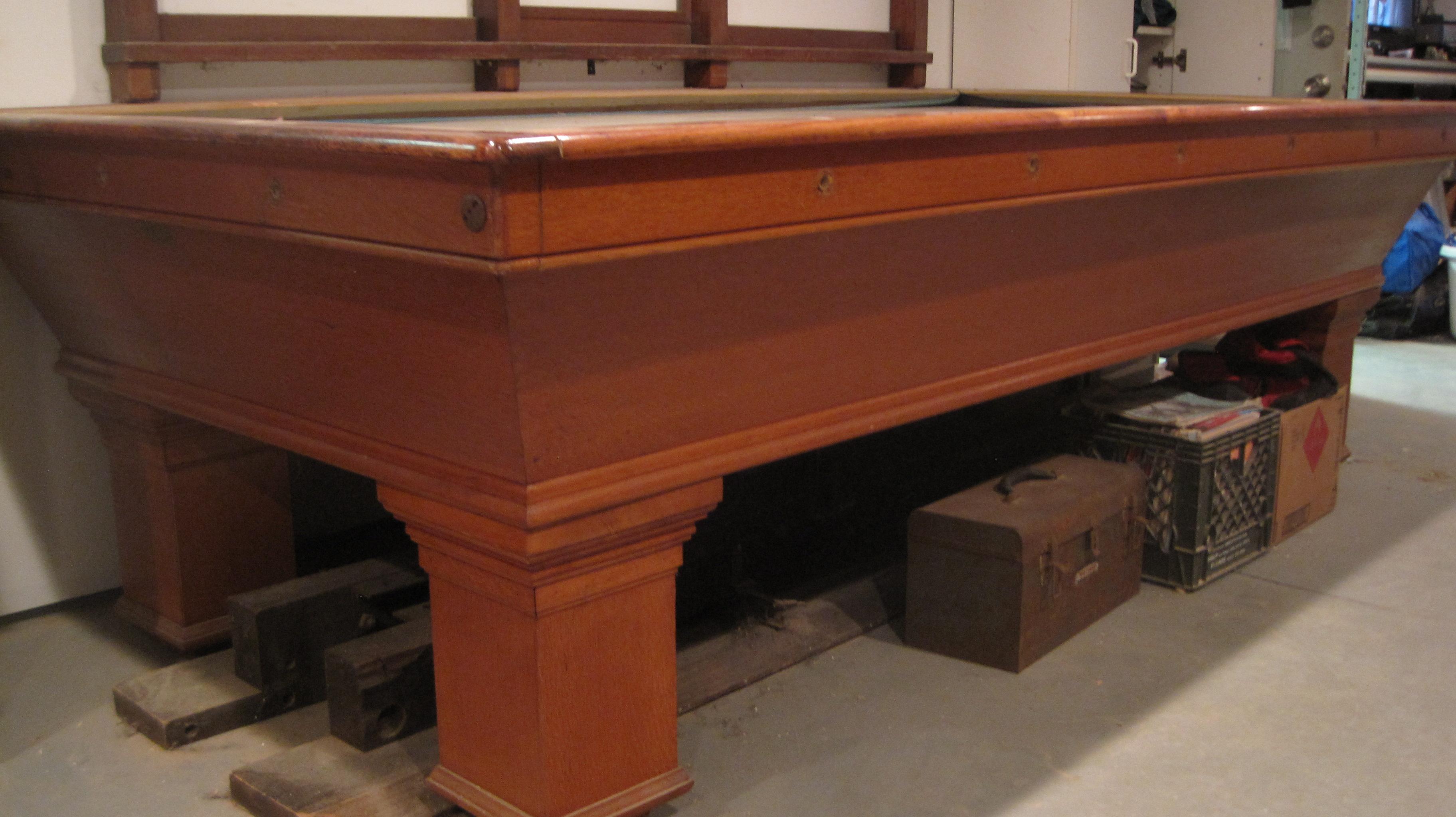1906 Brunswick Billiard 9ft.